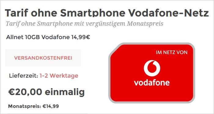 mobilcom-debitel green LTE 10 GB im Vodafone-Netz bei handymittarif