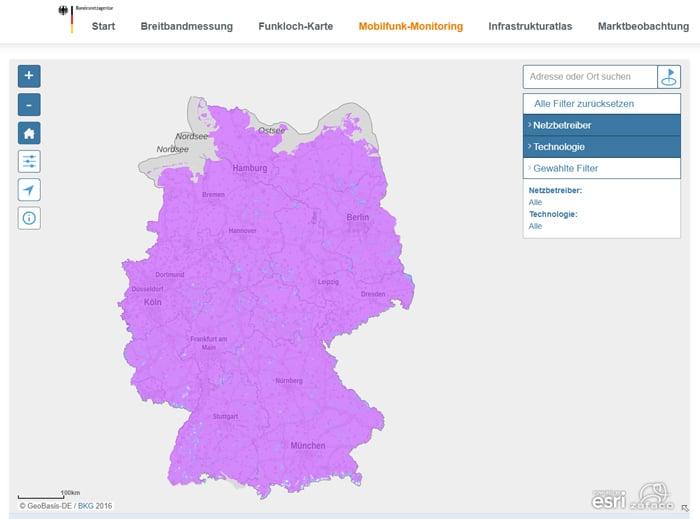 Netzabdeckung der Mobilfunknetze von Telekom, Vodafone und o2 im Vergleich - neue Mobilfunk-Monitoring-Karte ist da!