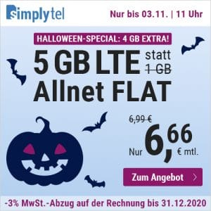 simplytel LTE All 1 GB Halloween 2020 Thumbnail