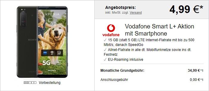 Sony Xperia 5 II + Vodafone Smart L Plus bei LogiTel