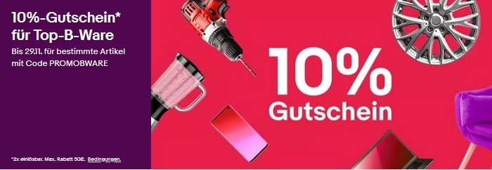 BWare Gutschein Ebay Aktion