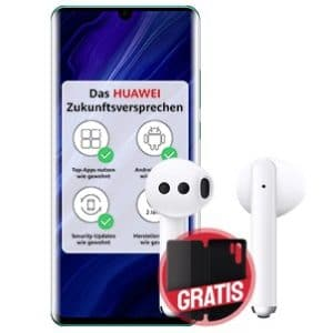 Huawei P30 Pro New Edition mit FreeBuds 3 und Cover