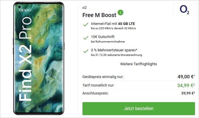 Oppo Find X2 Pro zum o2 Free M Boost bei DeinHandy