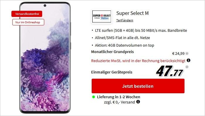 Samsung Galaxy S20 Plus mit Super Select M bei MediaMarkt