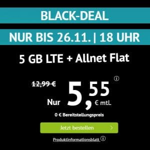 hadnyvertrag.de LTE All 5 GB Aktion Black Week 2020 Thumbnail