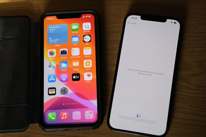 iPhone-Migration - Aktivierung neues iPhone