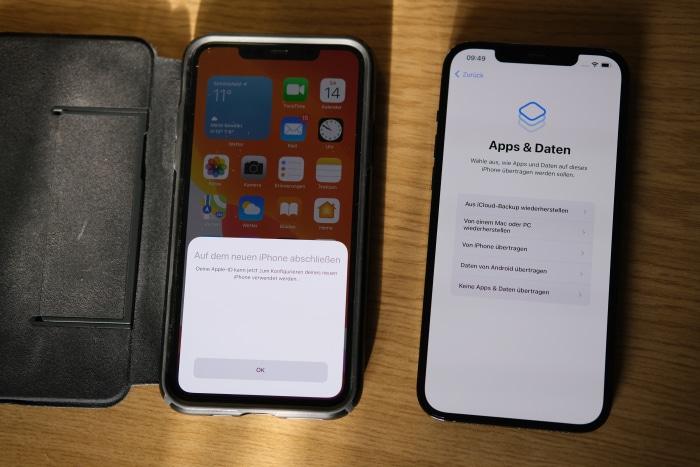 iPhone-Migration - Backup auswählen