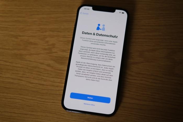 iPhone-Migration - Datenschutz