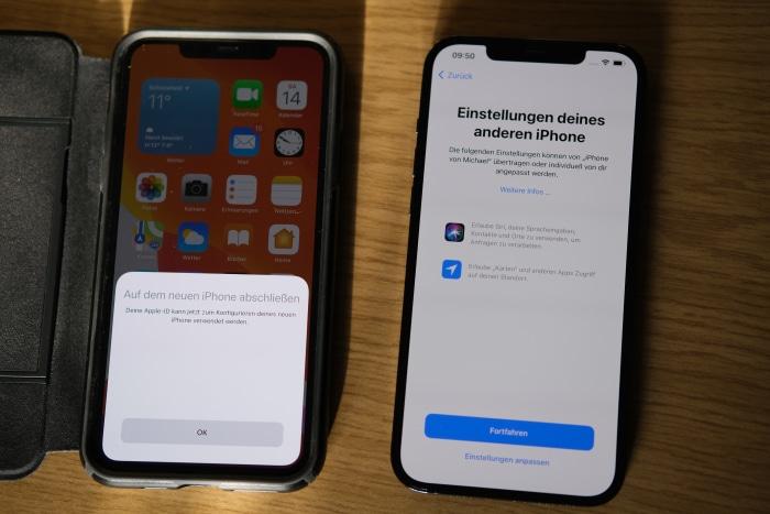 iPhone-Migration - Standort & Siri