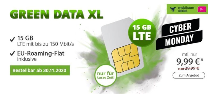 mobilcom-debitel green Data XL (Telekom-Netz) bei modeo