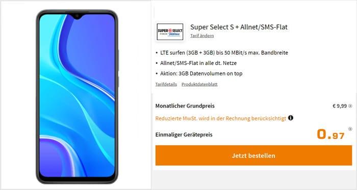 Xiaomi Redmi 9 + Super Select M