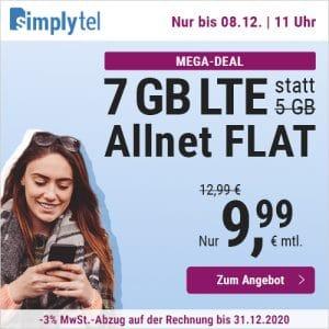 simplytel LTE 5000 Aktion Dezember 2020 Thumbnail