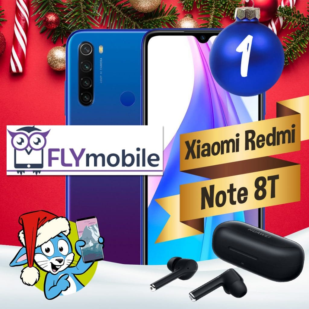 Handyhase Adventskalender Türchen 1: Gewinne ein Xiaomi Redmi Note 8T 128 GB inkl. Kopfhörer im Wert von rund 350 €