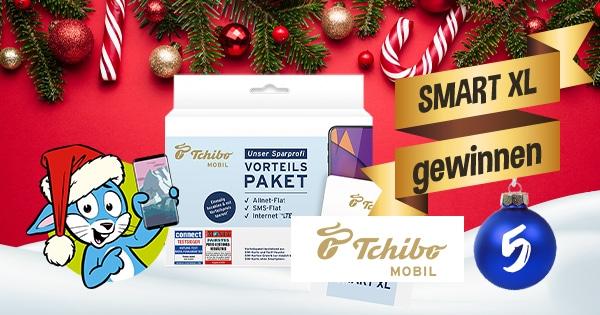 Handyhase Adventskalender Türchen 5: Gewinne ein Tchibo MOBIL Vorteilspaket SMART XL im Wert von 199 €