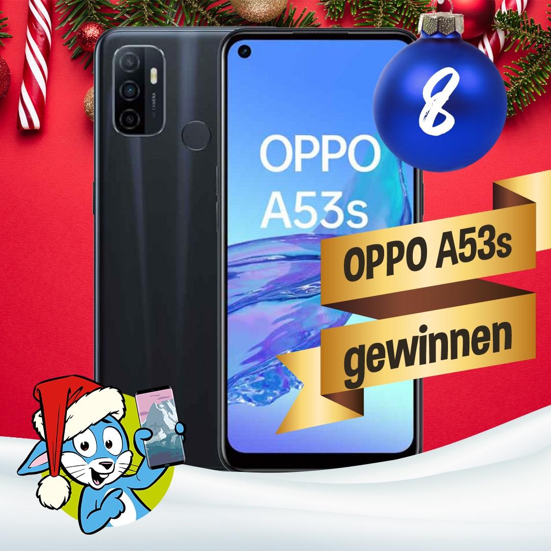 Handyhase Adventskalender Türchen 8: Gewinne ein OPPO A53s im Wert von 189 €