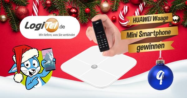 Handyhase Adventskalender Türchen 9: Gewinne eine Huawei-Waage und ein Mini-Handy im Wert von 110 €