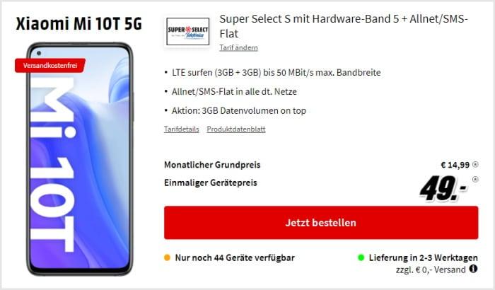 Xiaomi Mi 10T mit Super Select S und 6 GB LTE bei MediaMarkt