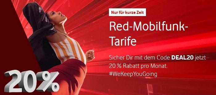 Vodafone 20 Prozent Aktion