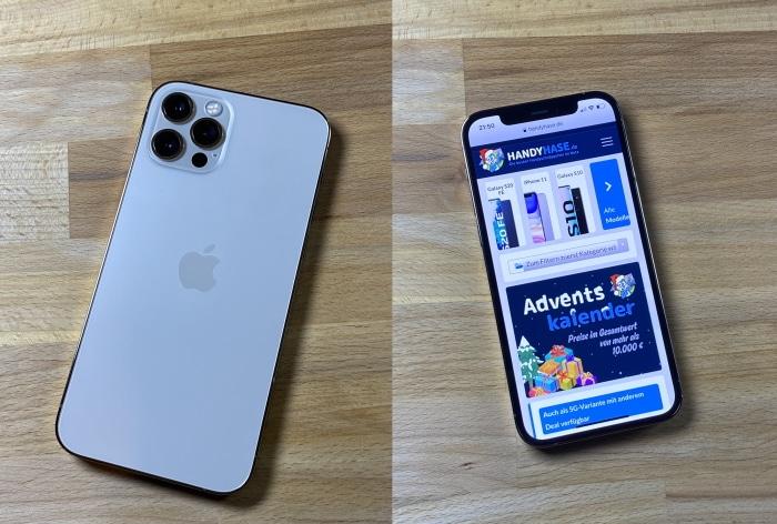 iPhone 12 Pro Test Vorder- und Rückansicht