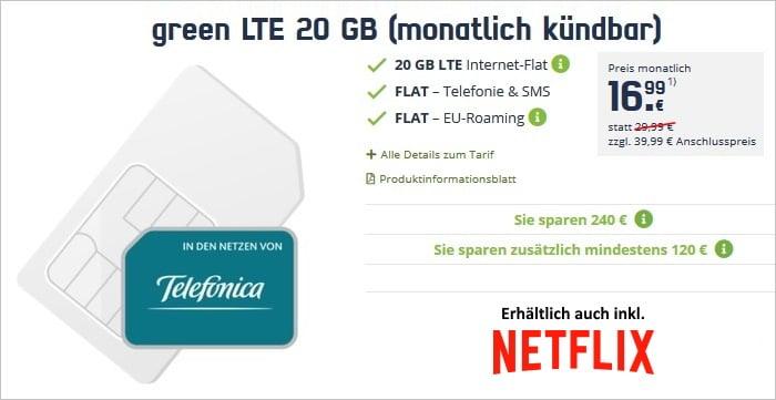 mobilcom-debitel green LTE 20 GB (Telefónica-Netz)