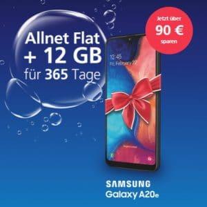 o2 my Prepaid Smartphone Jahrespaket + Samsung Galaxy A20e bei o2 Online Thumbnail