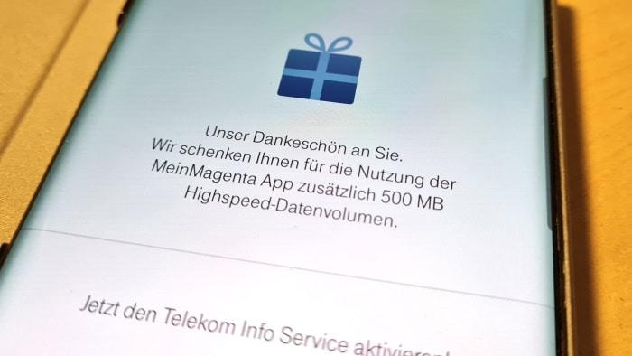 Telekom MeinMagenta: 500 MB Datenvolumen geschenkt Thumbnail