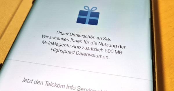 Telekom MeinMagenta: 500 MB Datenvolumen geschenkt
