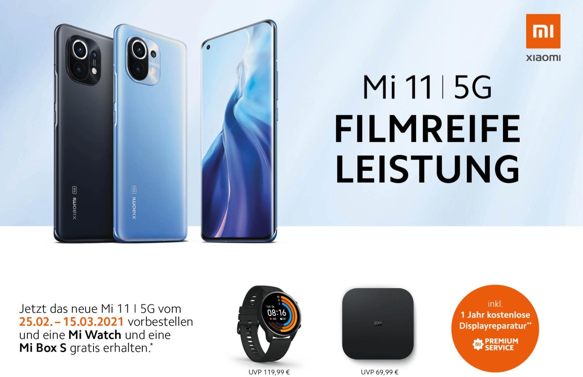 Xiaomi Mi 11 Vorbesteller-Aktion