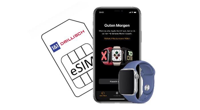 1&1 Drillisch - Marken mit eSIM-Nutzung