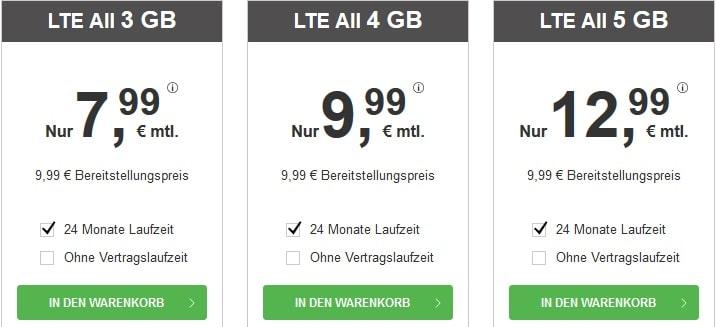 BILDconnect LTE All Tarife April 2021