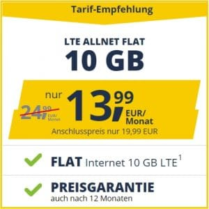 freenet mobile Allnet Flat LTE - neue Tarife!