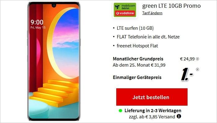 LG Velvet 4G mit md green LTE 10 GB im Vodafone-Netz bei MediaMarkt