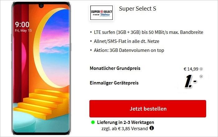 LG Velvet 4G zum Super Select S mit 6 GB bei MediaMarkt