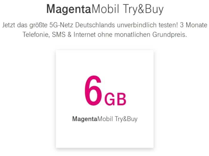 Telekom MagentaMobil Try & Buy