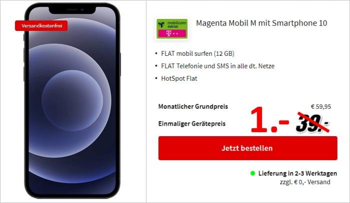 Apple iphone 12 mit md magenta mobil m mediamarkt
