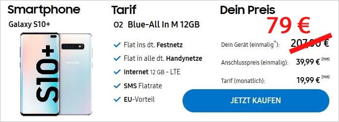 Samsung Galaxy S10 Plus mit o2 Blue All In M im Samsung Shop