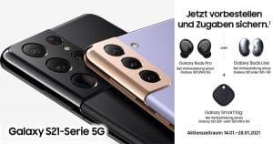 Vorbesteller-Aktion von Samsung für Galaxy S21, Galaxy S21 Plus und Galaxy S21 Ultra Thumbnail