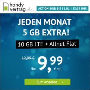 handyvertrag.de LTE All 5 GB Aktion Januar 2021 Thumbnail