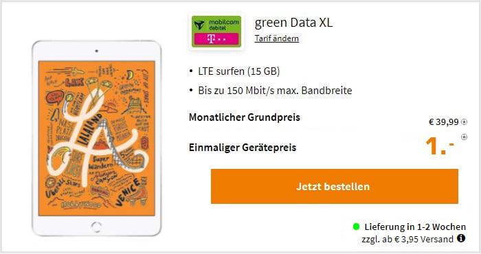 iPad Mini 2019 Wifi Cellular Green Data Xl Telekom Saturn