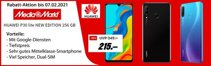 Huawei P30 Lite New Edition 256 GB bei MediaMarkt zum Tiefstpreis