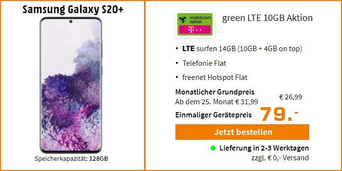 Samsung Galaxy S20 Plus zum green LTE Telekom - 10+4 GB - Saturn