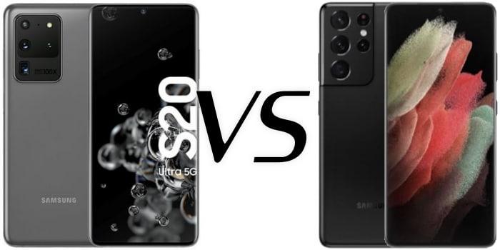 Samsung Galaxy S20 Ultra versus Galaxy S21 Ultra im Vergleich