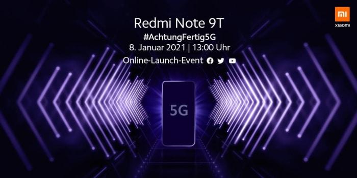 Xiaomi Redmi Note 9T mit Vertrag - Launch Event