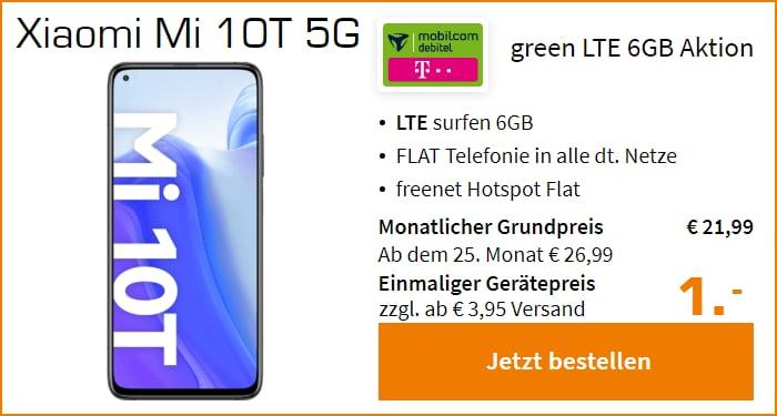 Xiaomi Mi 10T mit md green LTE (Telekom-Netz) bei Saturn