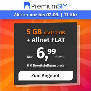 PremiumSIM Aktion 5GB Februar2021