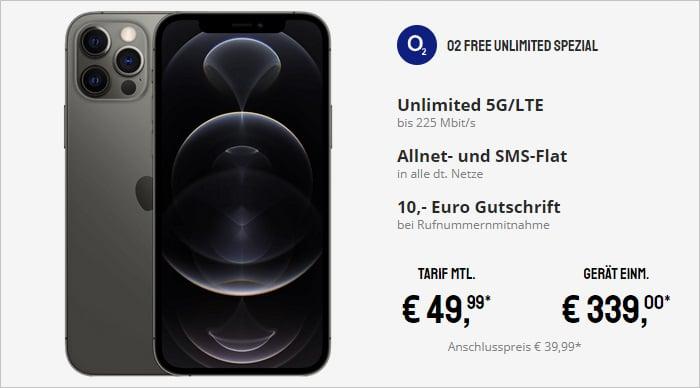 iPhone 12 Pro zum o2 Free Unlimited bei Sparhandy