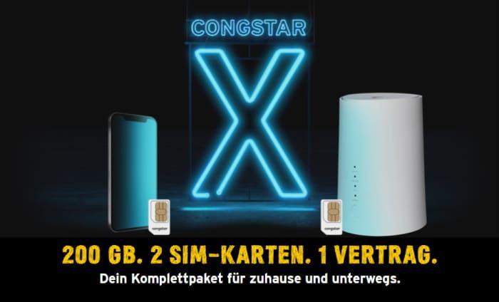 Congstar X 200 Gb Im Telekom Netz Für Smartphone Und Zuhause