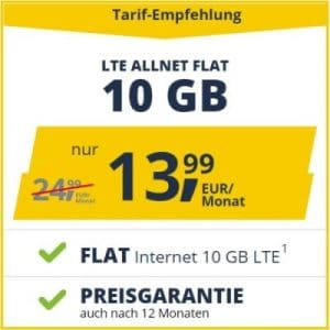 freenet mobile Allnet Flat LTE - ohne AG Aktion
