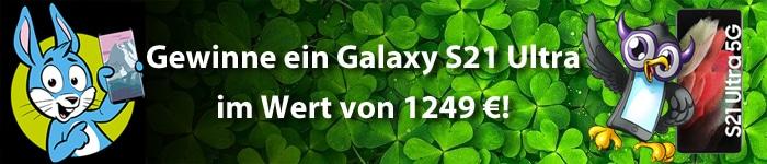 Handyhase-Gewinnspiel im Februar: Jetzt mitmachen und ein Samsung Galaxy S21 Ultra im Wert von 1249 € gewinnen!