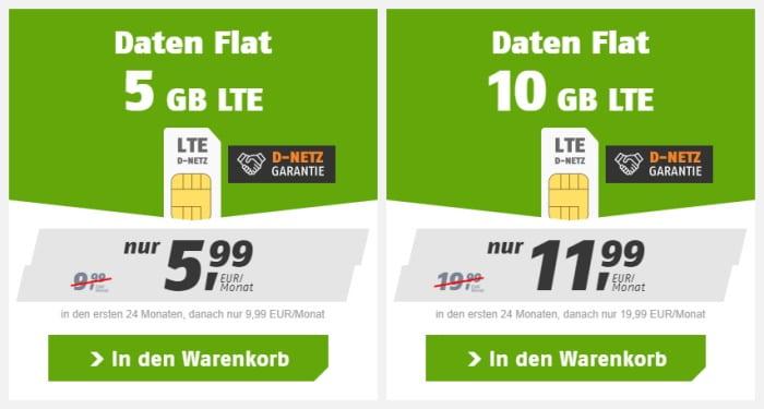 klarmobil LTE Daten Flat im Vodafone-Netz